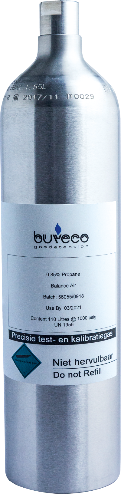 Buveco test gas cilinder